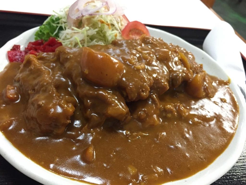 城東食堂のカツカレーはデカい美味い安い!(弘前市)