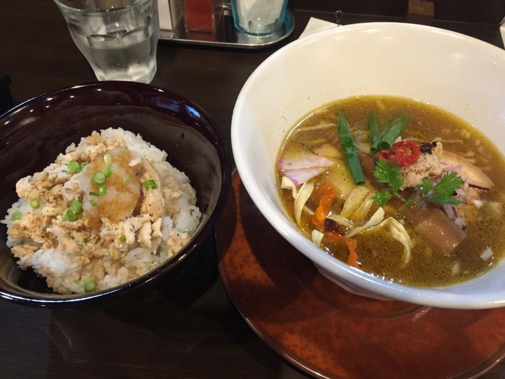 sobabar Ciliegioの醤油sobaととり飯(弘前市)