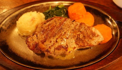 シド亭のサーロインステーキは分厚くてジューシーです!(弘前市)