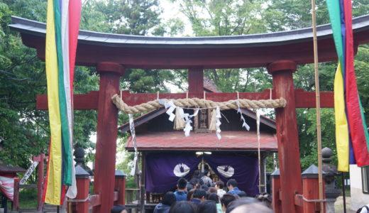 和徳稲荷神社の宵宮とけの汁(弘前市)