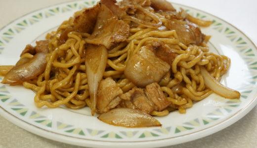 大十食堂の焼きそばはモチモチの自家製麺がたまりません(平川市)