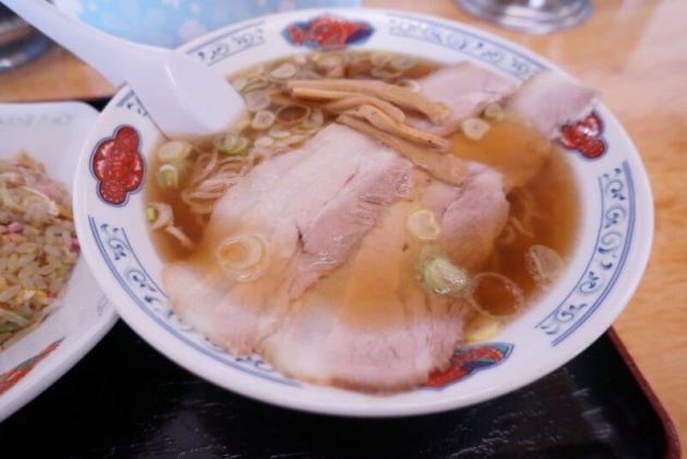 げんこつ屋の煮干し中華のアップ