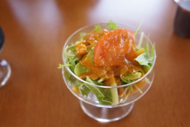 ステーキ食堂ミートソルジャーのサラダ