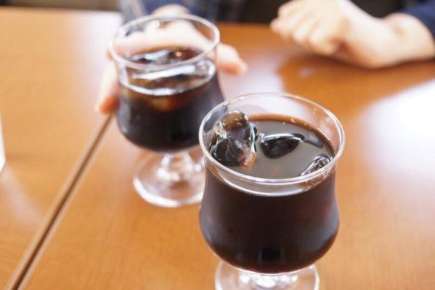 ステーキ食堂ミートソルジャーのアイスコーヒー