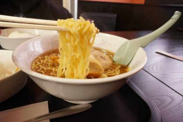 中華そばマル金の中華そばの麺リフト