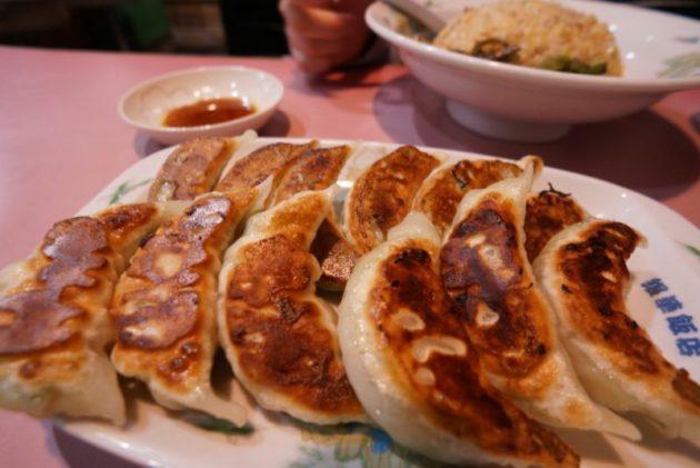 銀華飯店の海老餃子と餃子