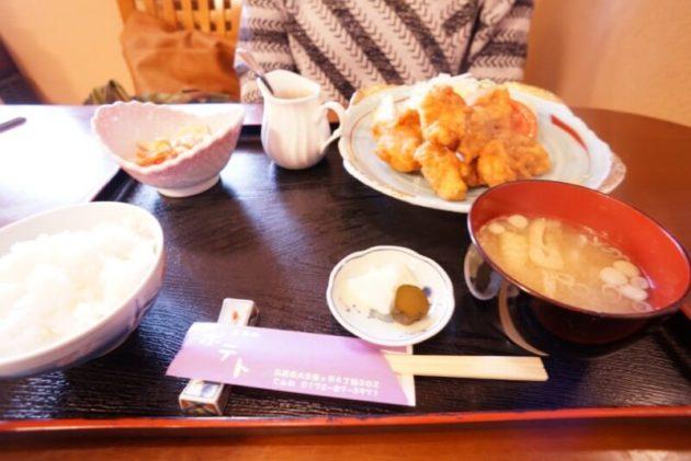 お食事処ポテトの鶏のから揚げ定食