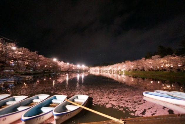弘前さくらまつり2019ボート小屋からの眺め