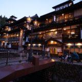 夜の銀山温泉の景色4