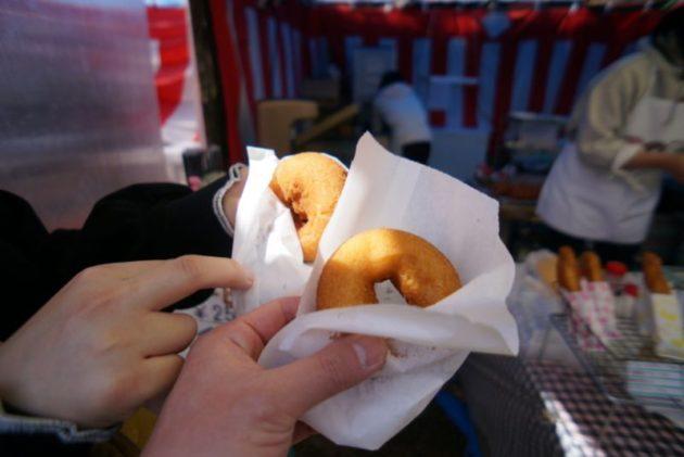 弘前さくらまつり2019のドーナツ