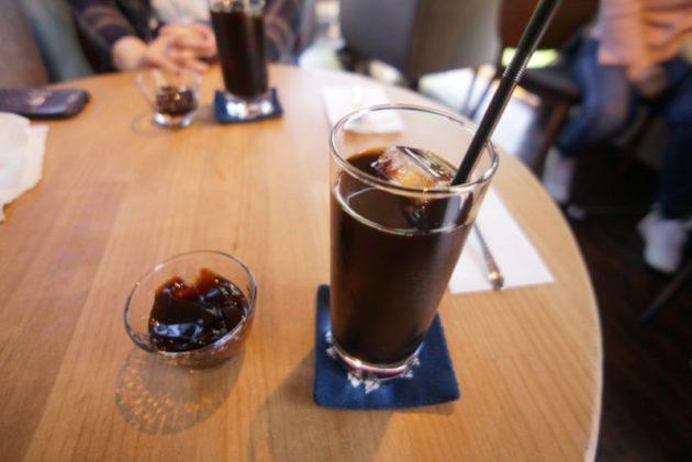 桜林茶寮のアイスコーヒーとコーヒーゼリー