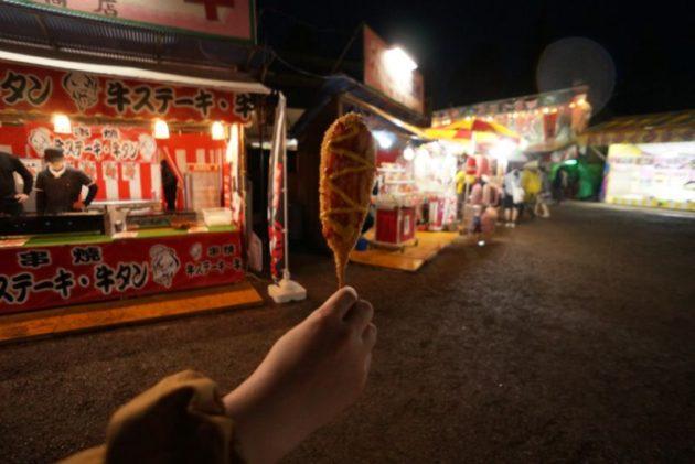 弘前さくらまつり2019のチーズドッグ
