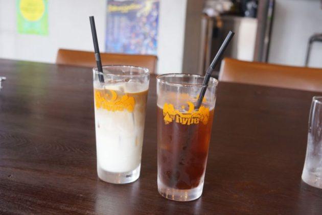 HYPEのアイスカフェオレとアイスコーヒー