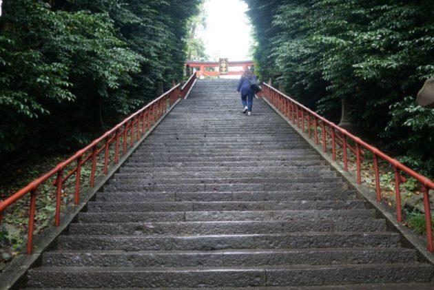 大崎八幡宮の石段2