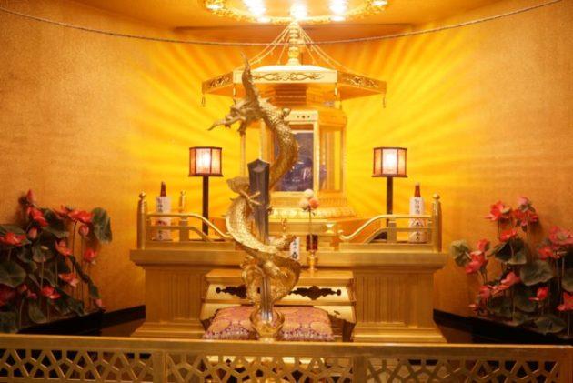 大観密寺・仙台大観音の内部の最上階の御神体