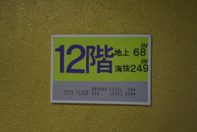 大観密寺・仙台大観音の最上階の看板