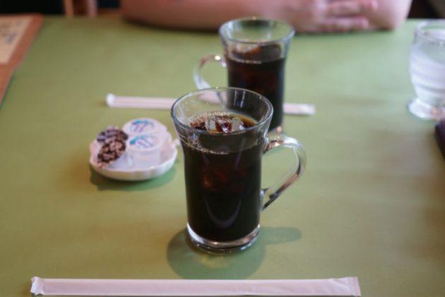 河童亭MASAYUKIのセットのアイスコーヒー