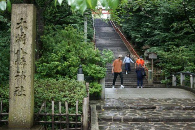 大崎八幡宮の石段1