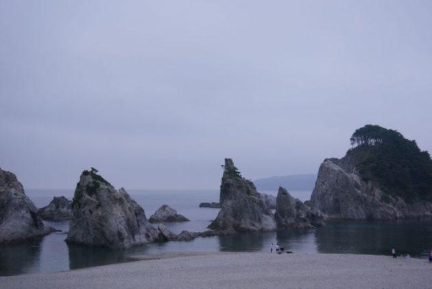 浄土ヶ浜を展望台から見た図