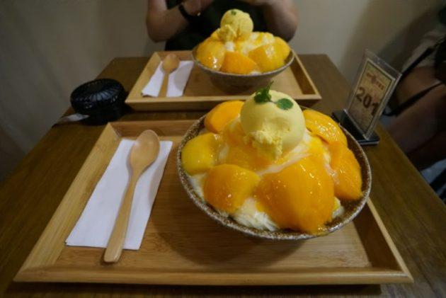 逢甲冰菓室のマンゴーかき氷芒果雪花冰 180元