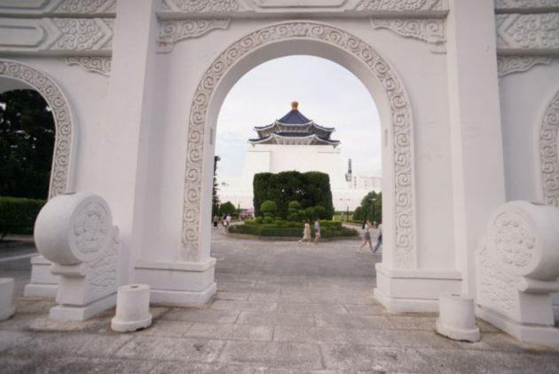 裏門から見える中正記念堂