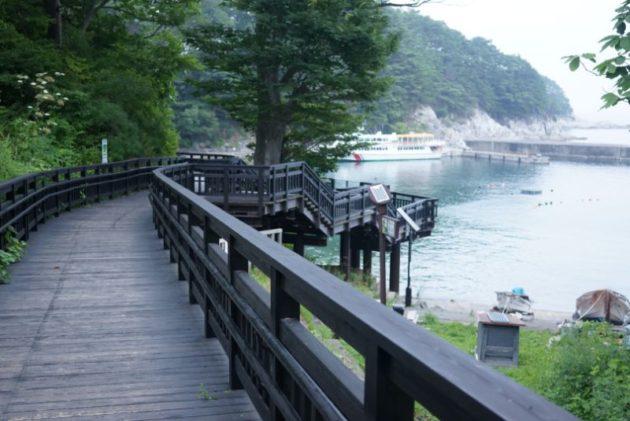 浄土ヶ浜までの桟橋1