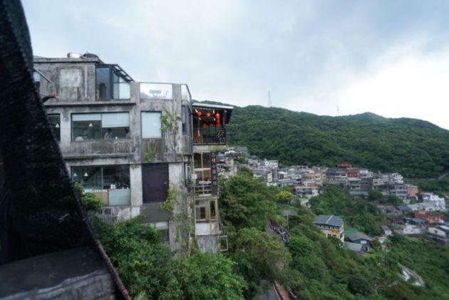 九份の高台から見た風景