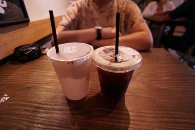 良粟商號の緑茶とアメリカンコーヒー