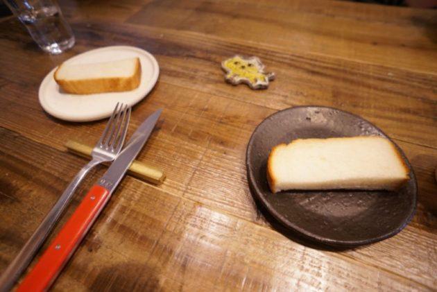 pommeris(ポムリ)のトーストとオリーブオイル