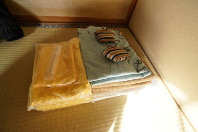 青荷温泉の浴衣とタオル