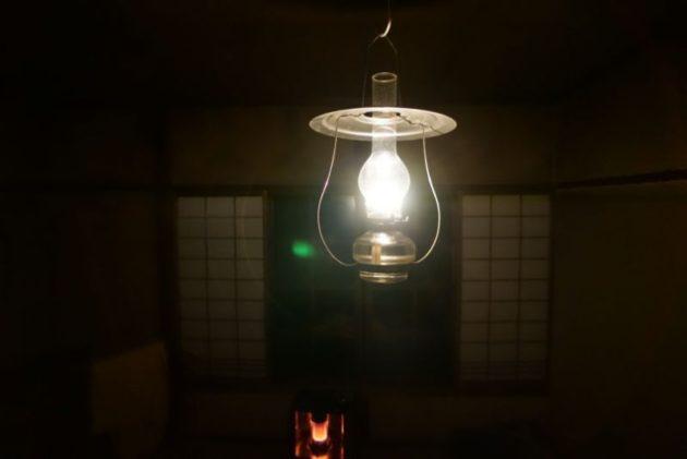 青荷温泉の夜の客室