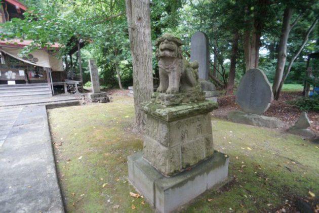 弘前天満宮の獅子狛犬