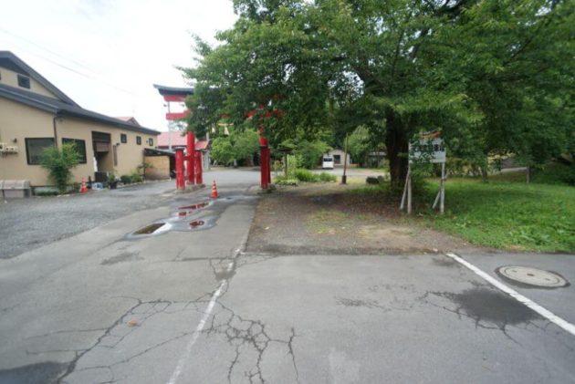 弘前天満宮の駐車場